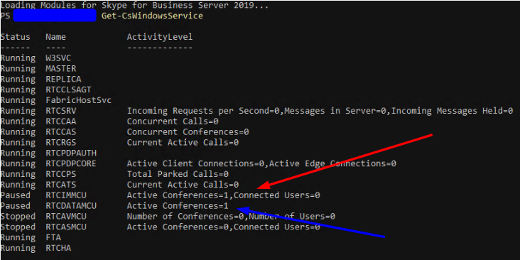 Get-CSWindowsService Seeing Services With Hanging Connections